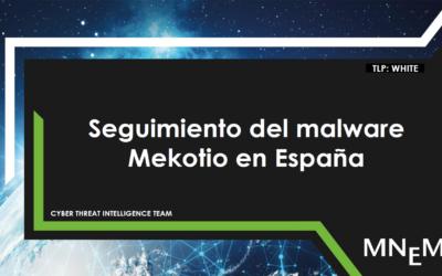 Seguimiento del malware Mekotio en España